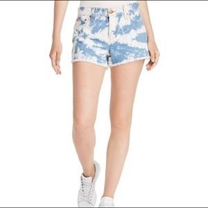 ALICE + OLIVIA Mid-Rise Tie-Dyed Vintage Shorts